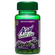 Holland&Barrett Acai z zieloną herbatą 1500 mg 120 tabletek