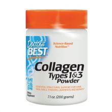 Doctor's Best Pure Collagen (czysty kolagen w proszku) typu 1 i 3 200 g