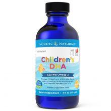 Nordic Naturals Children's DHA Omega 3 dla dzieci w płynie smak truskawkowy 237 ml